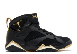 Offert Air Jordan 7 Retro 'Golden Moments Package' Noir Or (304775-030)