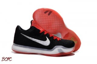 Offert Nike Kobe X 10 Elite Low Noir Rouge