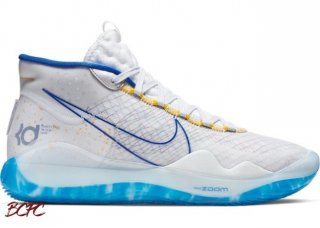 Offert Nike KD XII 12 Warriors 'Home' Bianco Bleu (AR4229-100)