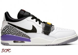 Offert Air Jordan Legacy 312 Low 'Lakers' Noir Blanc Pourpre (CD7069-102)