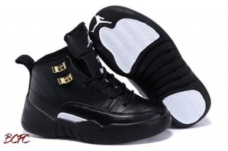Offert Air Jordan 12 Noir Or Enfant