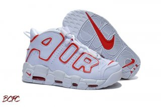 Offert Nike Air More Uptempo Blanc Rouge